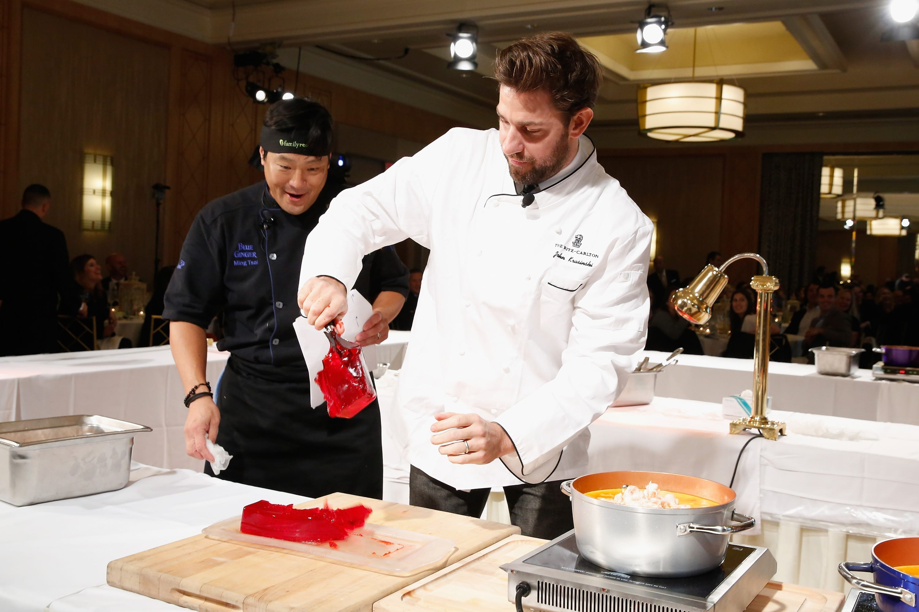 Family Reach's Cooking Live From New York: Emily Blunt & John Krasinski Join Celebrity Chefs Ming Tsai, Morimoto, To Help Families Fighting Pediatric Cancer