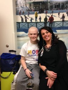Gregory with one of his nurses at MGH.