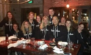 Ming with our fearless team.
