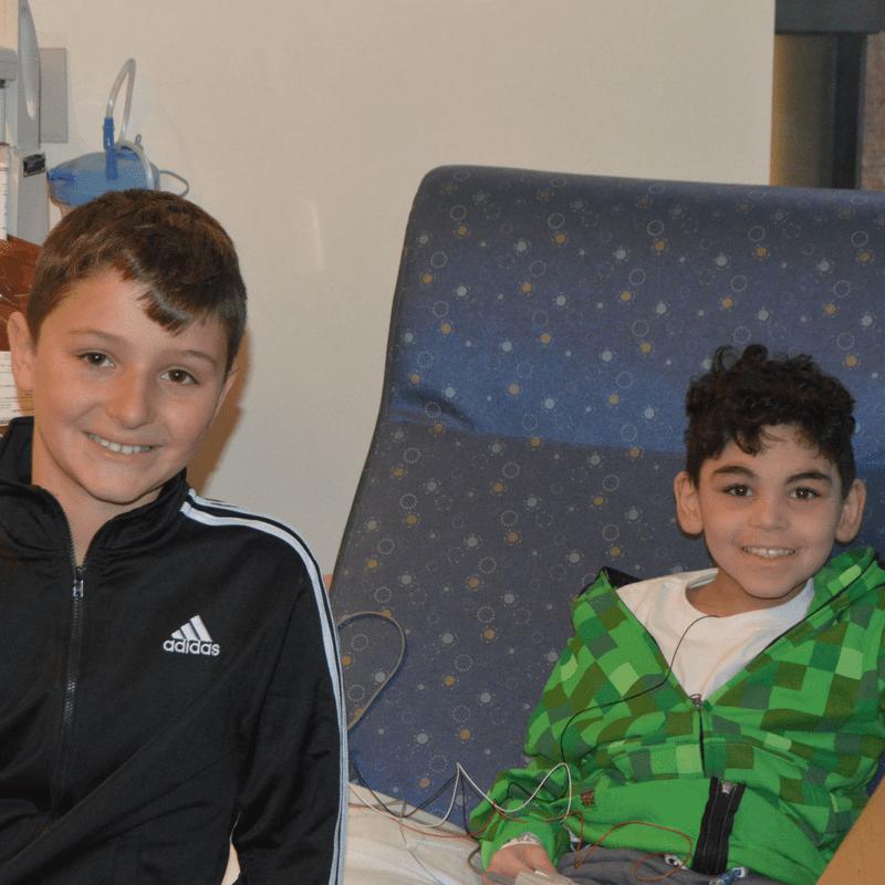 Young heroes in action: Antonio & Jose