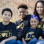Cancer-hero Chloe and her family