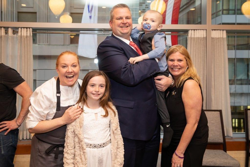 Chef Tiffani Faison with the Morris family