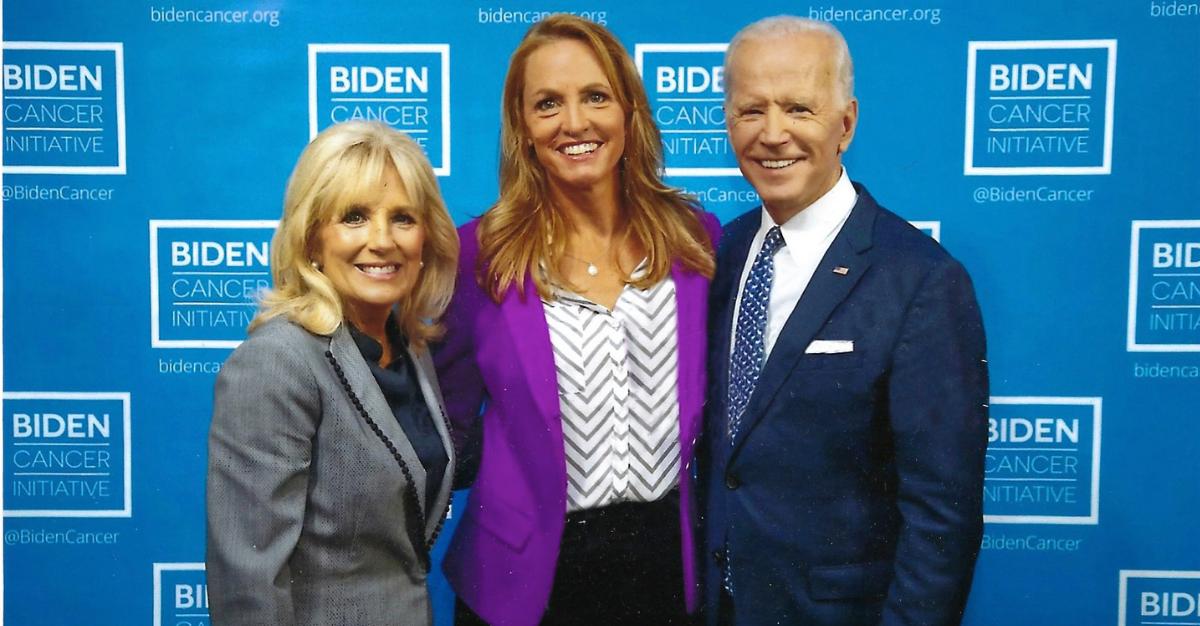 Carla Tardif with Dr. Jill and Joe Biden