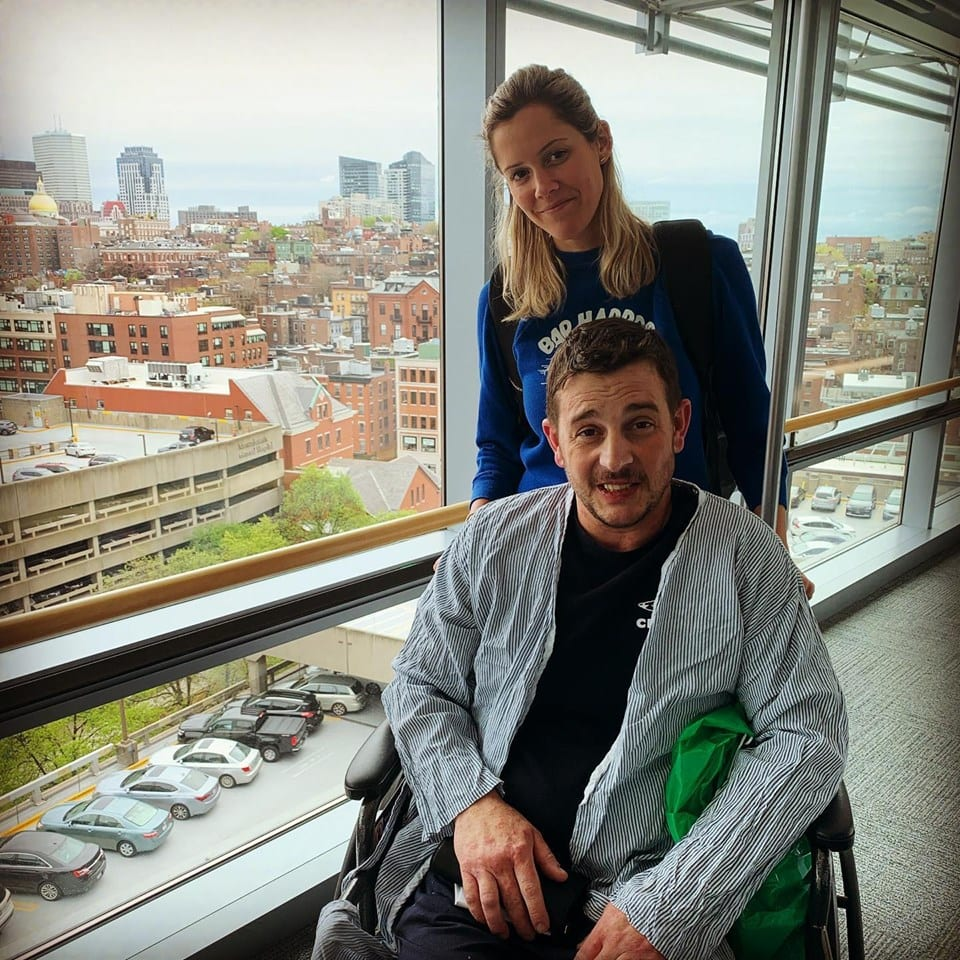 Michael Longo at the hospital in Boston