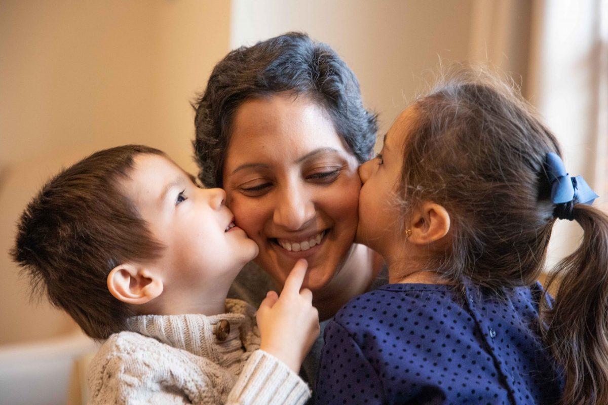 Vaishalee with her kids