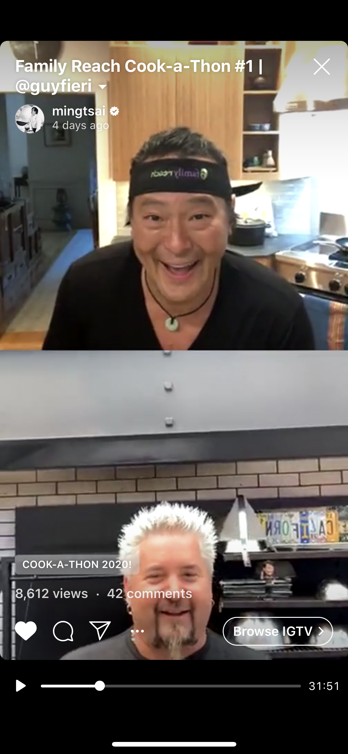 Chef Ming and Guy Fieri