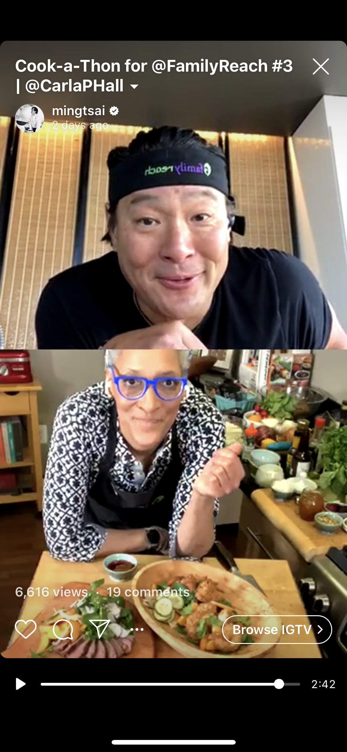 Chef Ming and Carla Hall