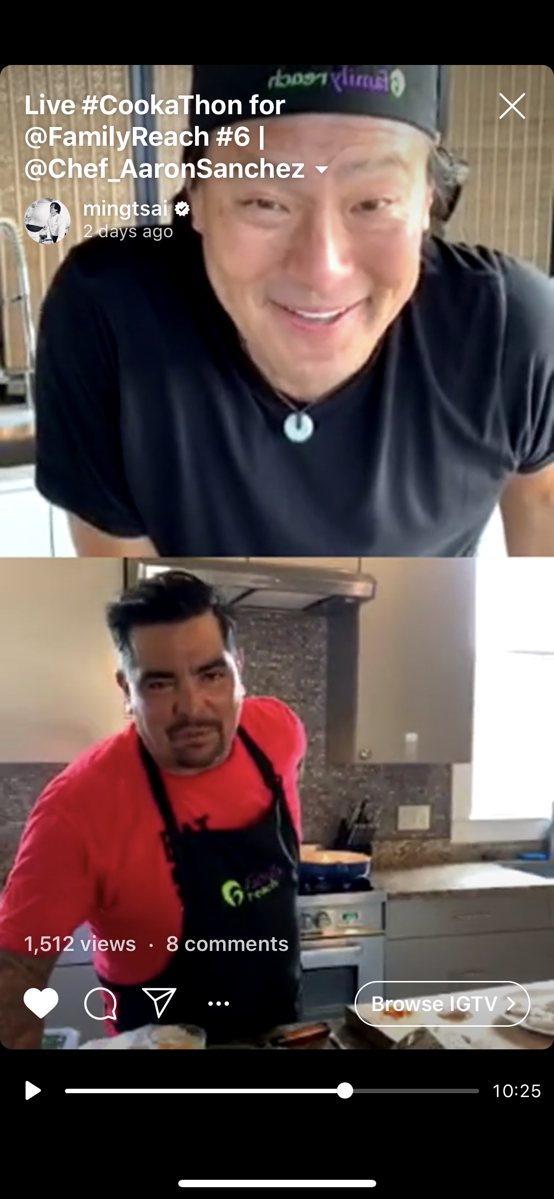 Chef Ming and Aarón Sánchez