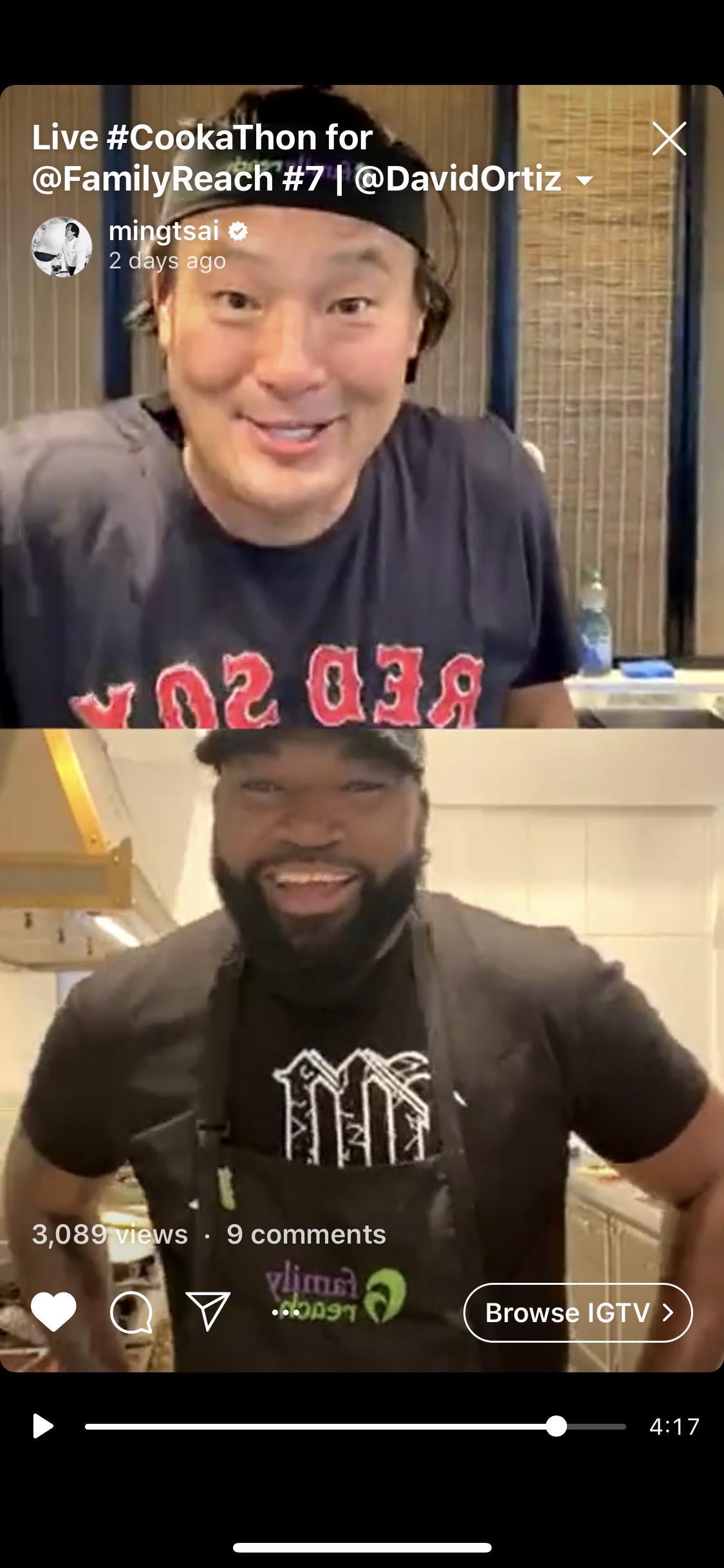 Chef Ming and David Ortiz