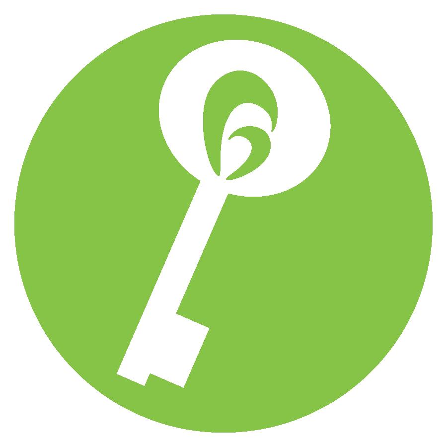Keyholder Logo Circle Green