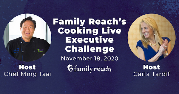 Chef Ming Tsai Challenges Top Executives in Family Reach's Live Cooking Event to Support Cancer Families