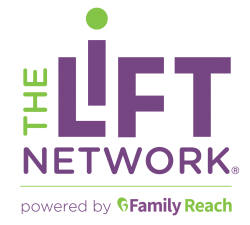 logo: The Lift Network powered by Family Reach