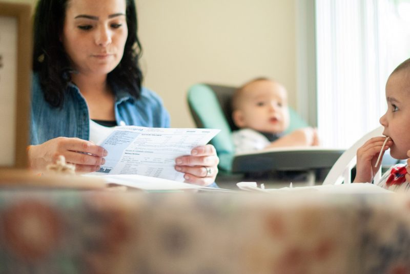 Mom worries about keeping up with the monthly household bills while her daughter, Harper, is in treatment.