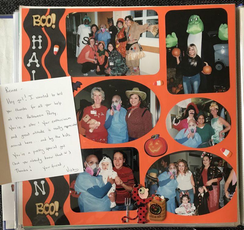 Snapshot from Renée's scrapbook featuring Halloween memories