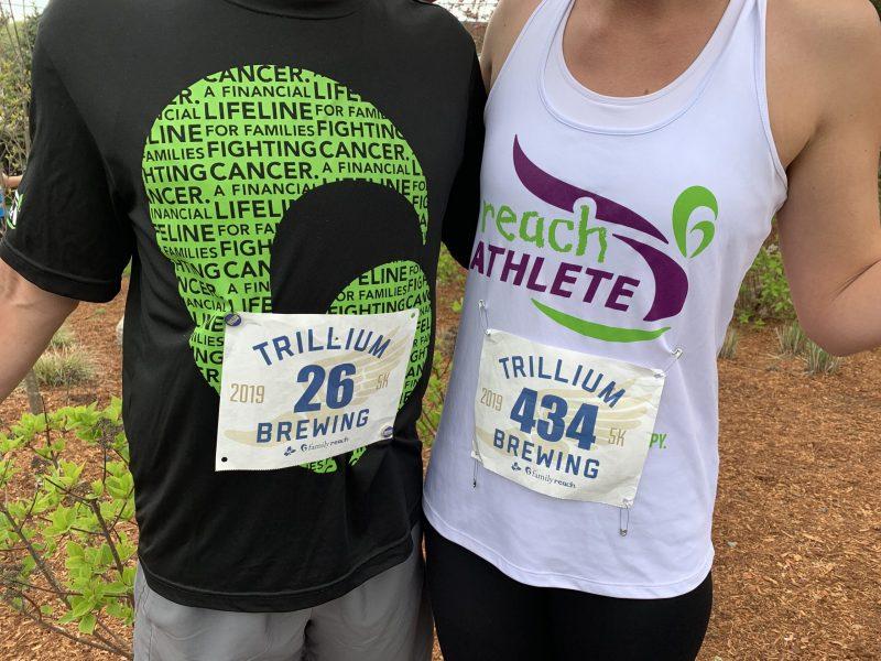 Reach Athletes participating in a Trillium 5K event.