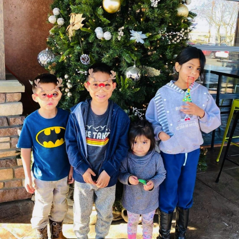 Cancer hero Ruben with his siblings