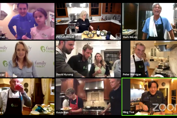 Zoom sceenshot from Cooking Live Executive Challenge with Chef Ming Tsai