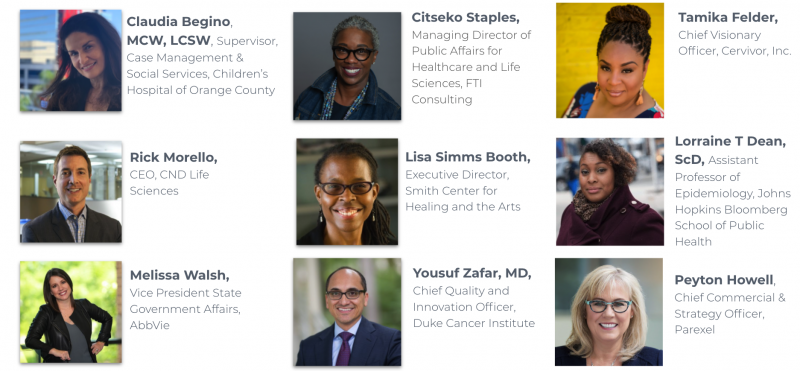 Headshots of the Cancer Equity Initiative Strategic Council members